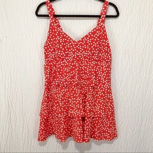 New Polka Dot Ruffled Swim Suit 14